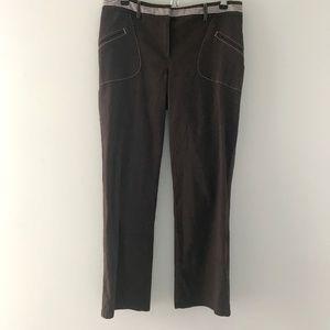 LOFT Ann Taylor Brown Cropped Pants Size 6